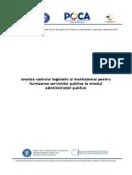 Analiza Cadrului Legislativ Si Institutional Pentru Furnizarea Serviciilor Publice