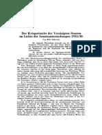 Heberlein, Wolf - Der Kriegseintritt Der Vereinigten Staaten Im Lichte Der Senatsuntersuchungen 1935-36 (1936, ZfP Nr. 26, Orig., Dsb.)