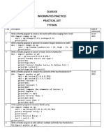 Practical List Questions