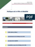 Session 4 - Ville Et Mobilité - Min Habitat