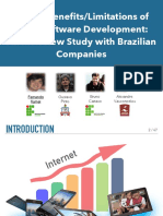 On the Benefits/Limitations of Agile Software Development: An Interview Study with Brazilian Companies