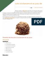 Galette de Biscuits à La Banane Et Au Yuzu de Lluís Costa __ Pasteleria.com