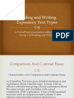 Reading and Writing Expository Text Types