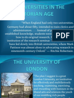 The Universities in the Victorian Age