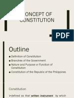 Concept of Constitution