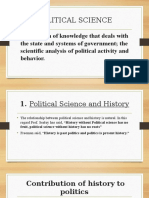 Relations of Political Science With Other Social Sciences - Copy