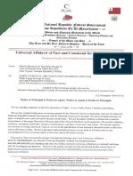 MACS000000104-R218254-56  Universal Affidavit of Fact and Command Wells Fargo Savings & Trust