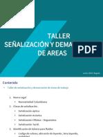 presentación señalizacion y demarcación de áreas