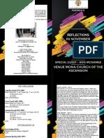 Concert Program - 8 Page