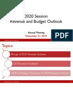 112119 No2 Revenue and Budget Outlook
