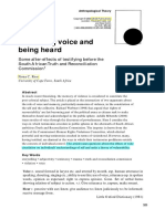 On Having Voice and Being Heard