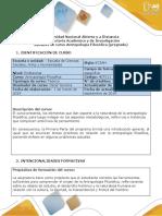 Syllabus Del Curso Antropología Filosófica