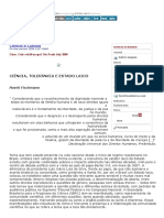 x.fiscHMANN, R. Ciência, Tolerância e Estado Laico