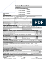 Contractor Permit to Work
