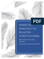 RAMAS DEL DERECHO Y SU RELACIÓN CON LA CONSTITUCIÓN