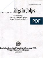 Select Writings for Judges