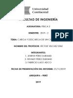 LABORATORIO DE FISICA II CARGA DESCARGA