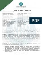 Contrato de Trabajo Carlos Alberto Pérez Cáceres