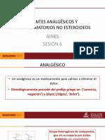 6.-AGENTES ANALGÉSICOS Y ANTINFLAMATORIOS NO ESTEROIDEOS