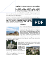 Desarrollo Económico de La Provincia Del Cañar