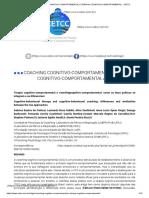 Coaching Cognitivo-comportamental e Terapia Cognitivo-comportamental - Cetcc