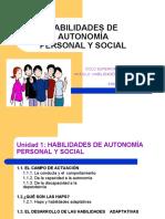 habilidades Autonomia Personal y Social