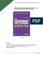 9780749471569 the Leadership Skills Handbook 50 Essential Skil
