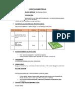 especificaciones JDCH  insumos