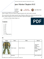 Pictorial List of Space Marine Chapters M-Z - Warhammer 40k
