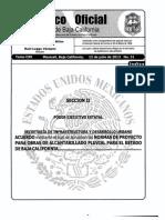 Normas técnicas para proyecto pluvial de Baja California