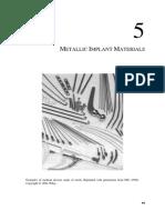 Metallic Implant Materials