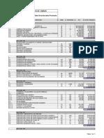 Excel del itemizado Cesfam comuna de Huechuraba