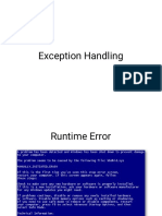 Exception Handling notes for vtu students