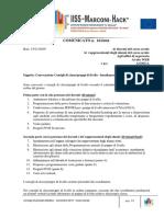 Convocazione Consigli di classe/gruppi di livello - Insediamento componente alunni.