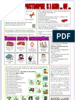 Apostrophe's - When to Use Them 1 Page Worksheet