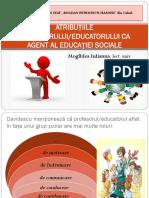 Atribuțiile Învățătorului CA Agent Al Educației Sociale