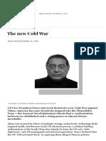 The new Cold War by Munir Akram