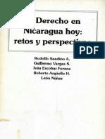 El Derecho en Nicaragua Hoy Retos y Perspectivas