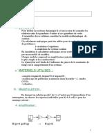 TP Asservissement Simulation Avec Matlab; Système Dynamique (4)