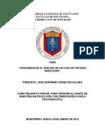 APROXIMACIÓN AL ANÁLISIS DE UN CASO DE HISTERIA MASCULINA