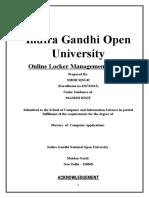 Synopsis Online Locker Management System