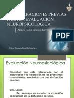 CONSIDERACIONES PREVIAS PARA LA EVALUACION NEUROPSICOLÓGICA