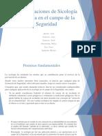 Consideraciones de Sicología Aplicada en El Campo de La Seguridad (Decalogo Seguridad)
