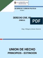 4. Unión de Hecho - Principios . Extinción