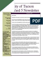 Tucson Councilmember Richard Fimbres' Ward 5 November 2019 Newsletter