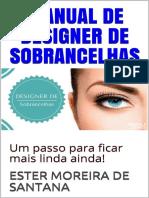 Ester M. de Santana - Manual de Designer de Sobrancelhas