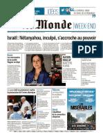 Journal LE MONDE Du Samedi 23 Novembre 2019