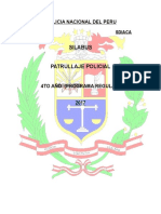 Patrullaje policial EO PNP