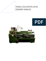 Conventional Colchester Lathe Assembly Manual