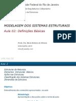 Modelagem dos sistemas estruturais